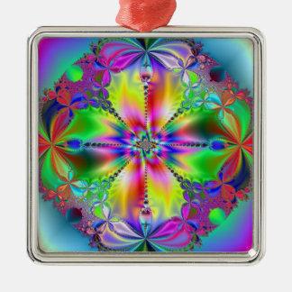 Innerhalb der Blume Silbernes Ornament