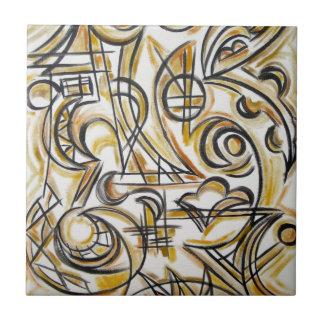 Innerhalb der Labyrinth-Abstrakten Kunst Keramikfliese