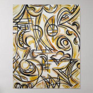 Innerhalb des Labyrinths - abstrakte Kunst Poster