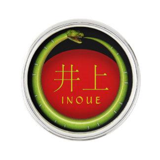 Inoue Monogramm-Schlange Anstecknadel