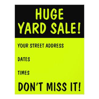 Ins Auge fallende Yard-Verkaufs-Flyer 21,6 X 27,9 Cm Flyer