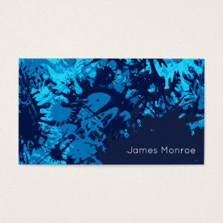 Ins Auge fallender blauer Visitenkarte