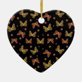 Insekten-Motiv-Muster Keramik Herz-Ornament