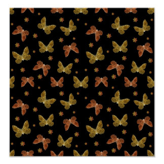 Insekten-Motiv-Muster Poster