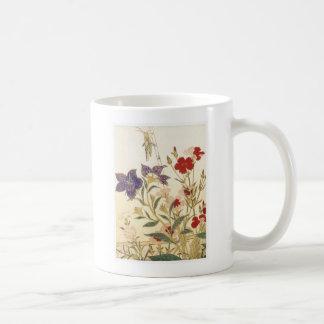Insekten und Blumen durch Utamaro Kaffeetasse