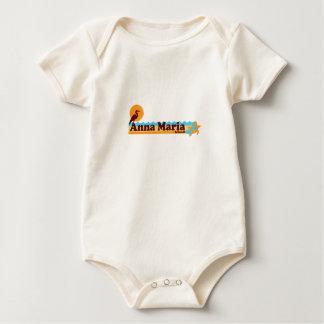 Insel Annas Maria - Strand-Entwurf Baby Strampler