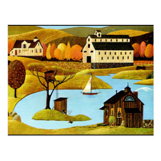 Insel-Baumhaus Postkarte