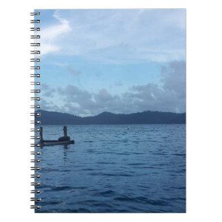 Insel-Boots-Dock Notizblock