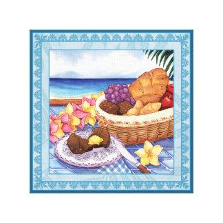 Insel-Café - auf dem Lanai Leinwanddruck