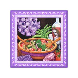 Insel-Café - tropischer Salat Leinwanddruck
