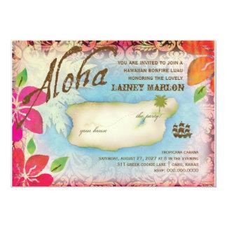 Insel der Gaschromatographie-| Aloha Luau Personalisierte Einladungskarte