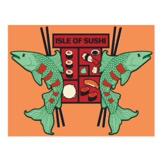 Insel der Sushi Postkarte