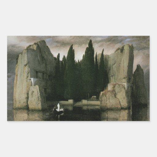 Insel der Toten, dritte Version durch Arnold Rechtecksticker