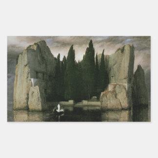 Insel der Toten durch Arnold Bocklin, Rechteckiger Aufkleber
