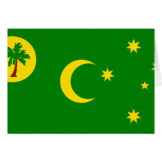 Insel-Flagge cm der Cocos-(Keeling) Karte