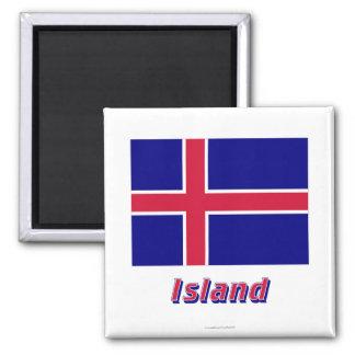 Insel Flagge MIT Namen