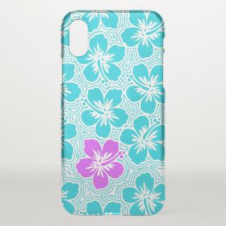 Insel-hawaiischer Akzent-mit BlumenHibiskus iPhone X Hülle