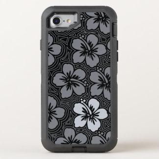 Insel-hawaiischer Akzent-mit BlumenHibiskus OtterBox Defender iPhone 8/7 Hülle