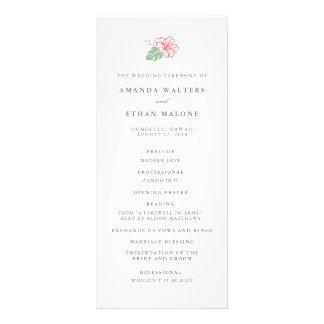 Insel-Hibiskus-Doppeltes versah Hochzeits-Programm Werbekarte