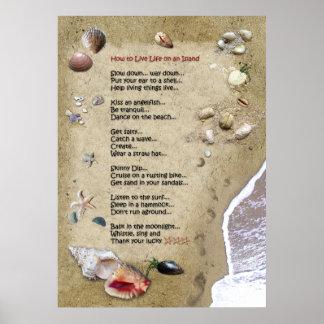 Insel-Leben Plakate