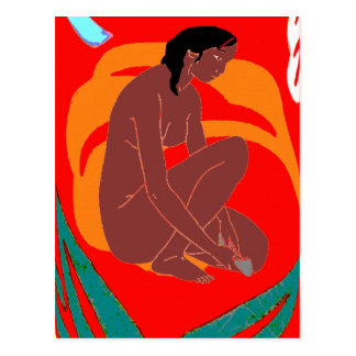 Insel-Mädchen, Hawaii, Tahiti Postkarte