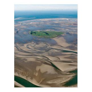 Insel Neuwerk nahe Hamburg in Deutscherwadden-Meer Postkarte