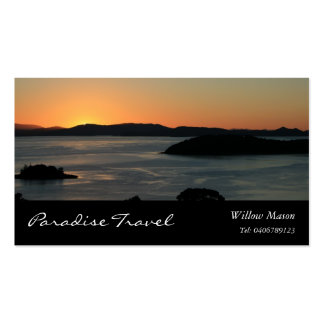 Insel-Ozean-Sonnenuntergang, Reise-Visitenkarte Visitenkarten