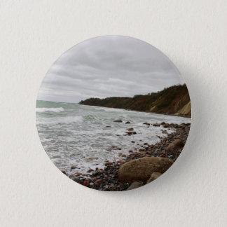 Insel Rügen in der Ostsee Runder Button 5,7 Cm