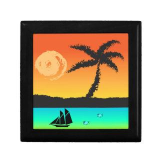 Insel-Sonnenuntergang Geschenkbox