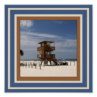 Insel-Strand-Plakat Spaß-Annas Marie Poster