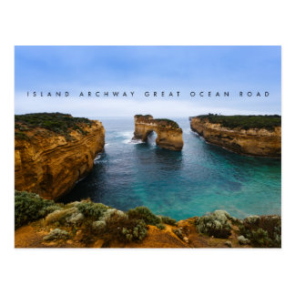 Insel-Torbogen auf der großen Ozean-Straße, Postkarte