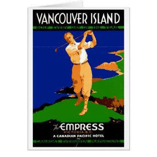 Insel-Vintages Plakat USA Vancouver wieder Karte
