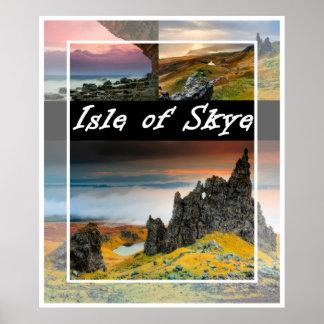 Insel von Skye: Landschaftsplakat Poster