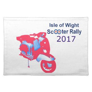 Insel von Wight-Roller-Kundgebung 2017 Tischset