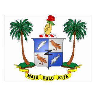 Insel-Wappen der Cocos-(Keeling) cm Postkarte
