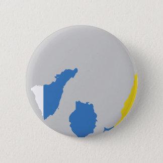 Inselflaggenkarte Runder Button 5,7 Cm