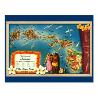 Inseln von Hawaii Postkarte