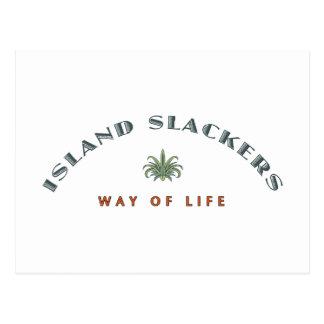 Inselslacker-Lebensart Postkarte