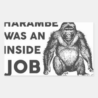 Insider-Job Harambe Rechteckiger Aufkleber