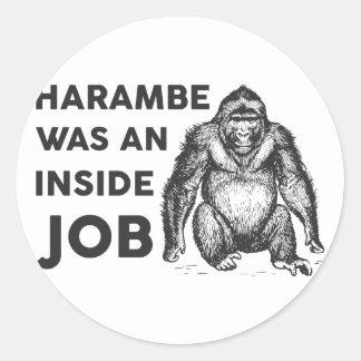 Insider-Job Harambe Runder Aufkleber