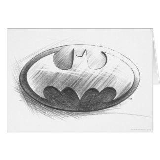 Insignien des Batman-Symbol-|, die Logo zeichnen Grußkarte