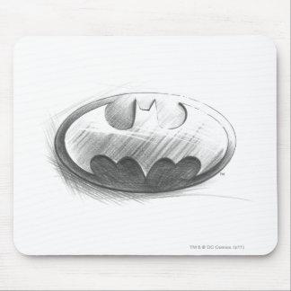 Insignien des Batman-Symbol-|, die Logo zeichnen Mousepads