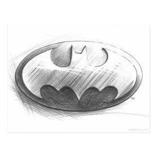 Insignien des Batman-Symbol-|, die Logo zeichnen Postkarte