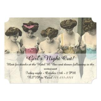 Inspektions-Mädchen-Nacht heraus 12,7 X 17,8 Cm Einladungskarte