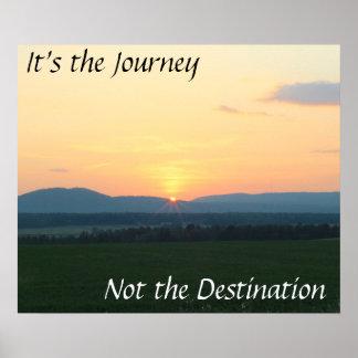 Inspiration am Sonnenuntergang Poster