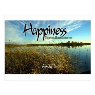 Inspiration -- Aristoteles und Glück Postkarte