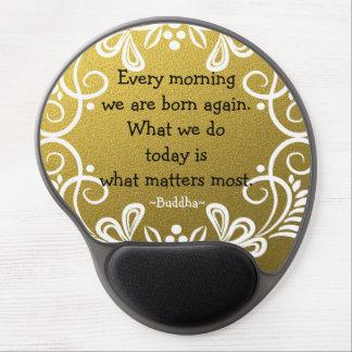 Inspirational Buddha-Zitat-GoldGlitter Gel Mousepad