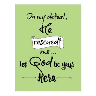 Inspirational christliche Zitat-Ermutigung Postkarte