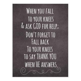 Inspirational christliche Zitat-Mitteilung Postkarte