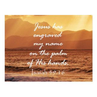 Inspirational christliches Bibel-Zitat Postkarte